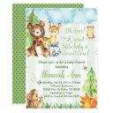 Woodland Baby Shower Invitation Forest Friends