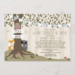 Woodland Creatures Social Distancing Mail Shower Invitation
