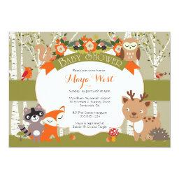 Woodland Shower - Forest Animals Themed Baby Showe