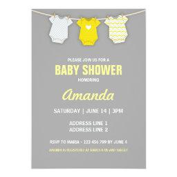 Yellow Baby Shower , Clothesline Theme
