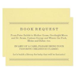 Yellow Book Request | Baby Shower Enclosure