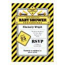 Yellow Construction Baby Shower Invitation