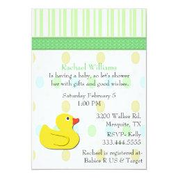 Yellow Duck Colorful Baby Shower