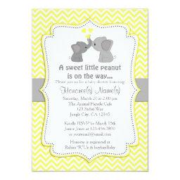 Yellow baby shower invitations babyshowerinvitations4u yellow elephant baby shower invitations chev 170 filmwisefo