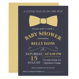 Yellow Little Man Bow Tie Baby Shower