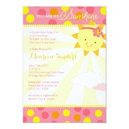 You Are My Sunshine Baby Shower  - Girl